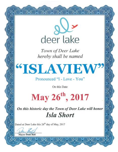 Town_Islaview_certificate